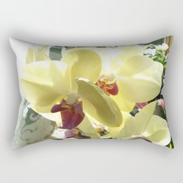 Yellow orchid Rectangular Pillow
