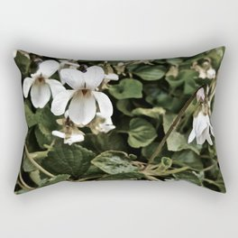 Wild White Violet; Take A Chance On Happiness Rectangular Pillow