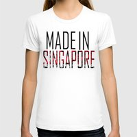 singapore T-shirts featuring Made In Singapore by VirgoSpice