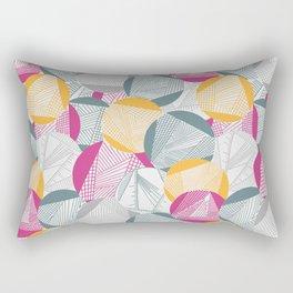 Tangent (Magenta) Rectangular Pillow