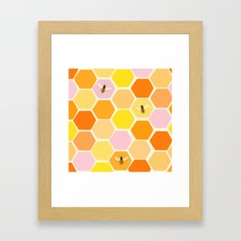 Busy As A Bee In A Hive Framed Art Print