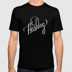 Hashtag Mens Fitted Tee Black 2X-LARGE