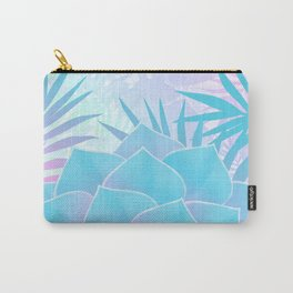 Pastel Rainbow Tropical Flower Paradise Design Carry-All Pouch