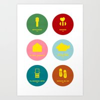 wes anderson Art Prints featuring Wes Anderson by Chay Lazaro