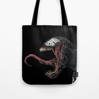 venom Tote Bags featuring Venom by Midu