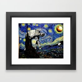 Starry Night versus the Empire Framed Art Print