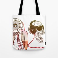 sound Tote Bags featuring Sound by Kier-James