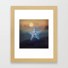 Starfish Sunset Framed Art Print