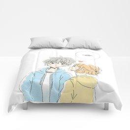 cute anime couple Comforters
