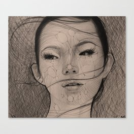 Stringy Girl Canvas Print