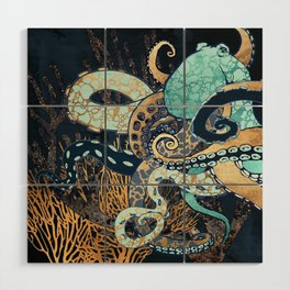 Metallic Octopus II Wood Wall Art