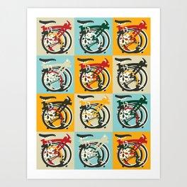 London Brompton Bicycle Art Print