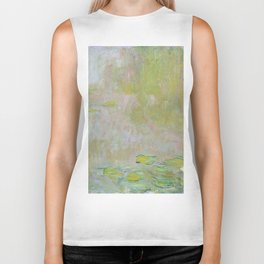 Water Lily Pond by Claude Monet Biker Tank