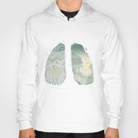 lungs Hoodies featuring Lungs by Herds of Birds