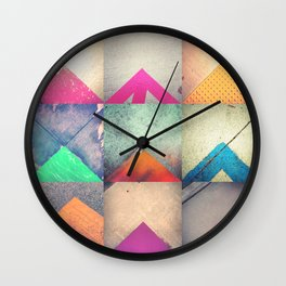 Bright Triangles Wall Clock