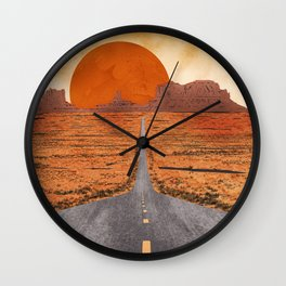 Monument Valley watercolor Wall Clock