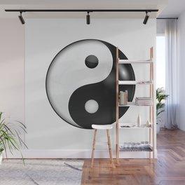 Yin yang symbol of harmony and balance Wall Mural