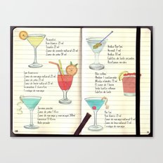 Cocktails Spanish Canvas Print