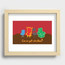 Can We Get A Location? Recessed Framed Print