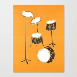 Drum Kit Drummer Canvas Print