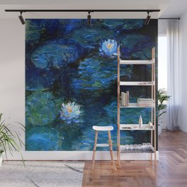 monet water lilies 1899 Blue teal Wall Mural