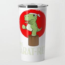 T-Rex Karate Martial Arts Kids Training Gift Travel Mug