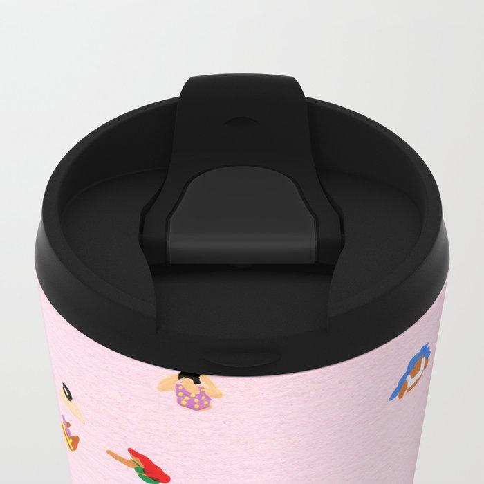 Pink! Metal Travel Mug