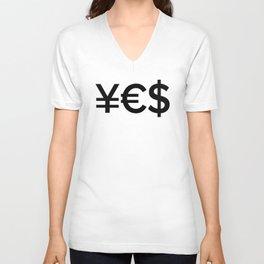 Yes Money - Startup Motivational T-Shirt Unisex V-Neck