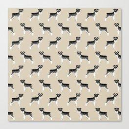 Schnauzer minimal basic dog art pattern design perfect gifts for schnauzers dog breed Canvas Print