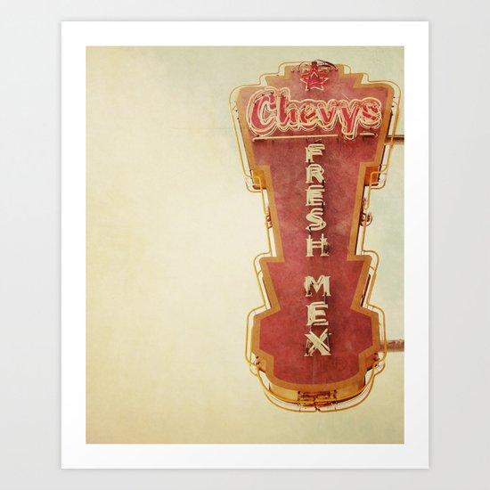 Chevy's Art Print