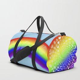 Rainbow Love Symbol Mandala Duffle Bag