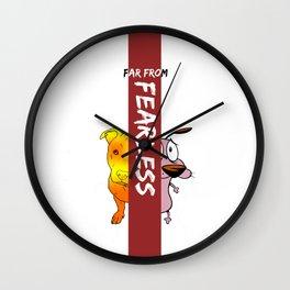 Far From Fearless Wall Clock