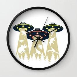 Ufo Alien Dinosaur Funny Night Star Gift Wall Clock