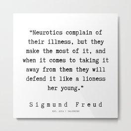 38|   Sigmund Freud Quotes | 190926 Metal Print