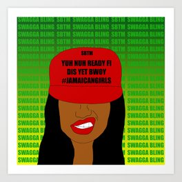 Jamaican Rude Girl Art Print