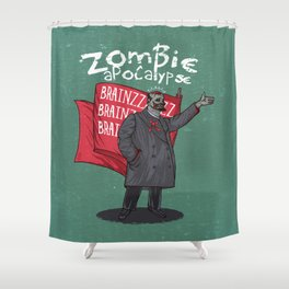 Zombie Lenin Shower Curtain