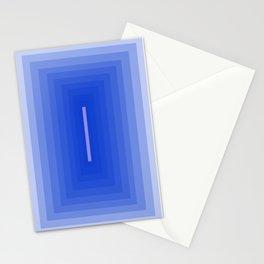 minimal blue corridor  Stationery Cards