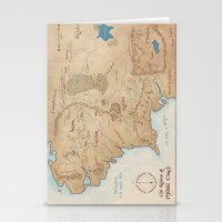 middle earth Stationery Cards featuring Map of Middle Earth by Kaz Palladino & Awkward Affections