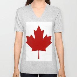 Canadian Flag Unisex V-Neck