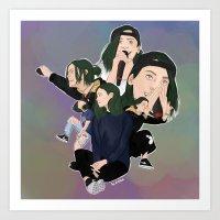 jenna kutcher Art Prints featuring Jenna by timetoewill