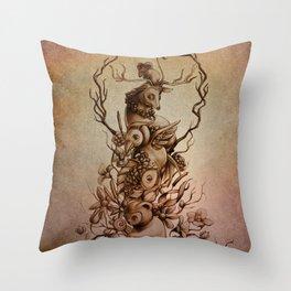 Cute Totem Throw Pillow