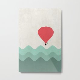 The Hot Air Balloon {The Boring Afternoon Design Series} Metal Print