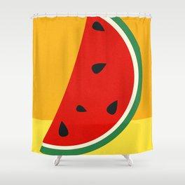 Melon Slice Shower Curtain
