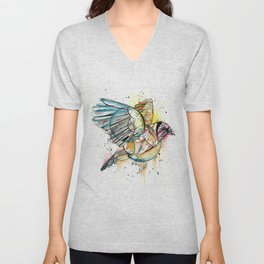 European Goldfinch  Unisex V-Neck