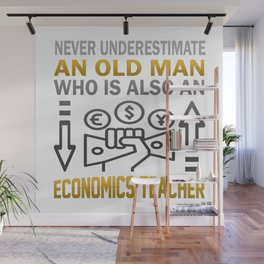 Old Man - An Economics Teacher Wall Mural