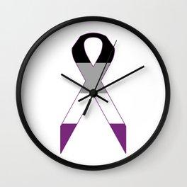Asexual Ribbon Wall Clock