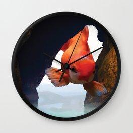Flying fish Wall Clock