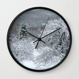 Vermont Winter Habitat in Snow Wall Clock