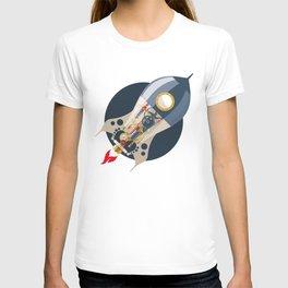steampunk, concept, rocket T-shirt