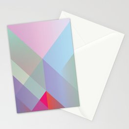 Colored layers overlapped. Stationery Cards